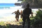 U.S. Army Pacific Soldiers with Black Watch Company, 2nd Battalion, 1st Infantry Regiment, 2nd Stryker Brigade Combat Team, 2nd Infantry Division, based out of Joint Base Lewis-McChord, Washington, conduct security operations on the island of Anguar in the Republic of Palau September 8. Defender Pacific 2020 brought over 125 Soldiers and a Logistics Support Vessel carrying two High Mobility Artillery Rocket Systems.