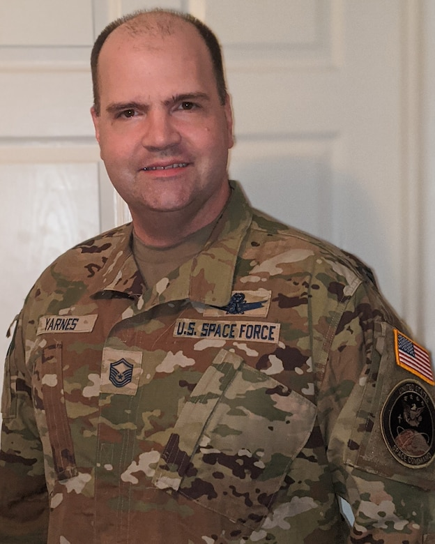 Master Sgt. Robert Yarnes poses for a photo.