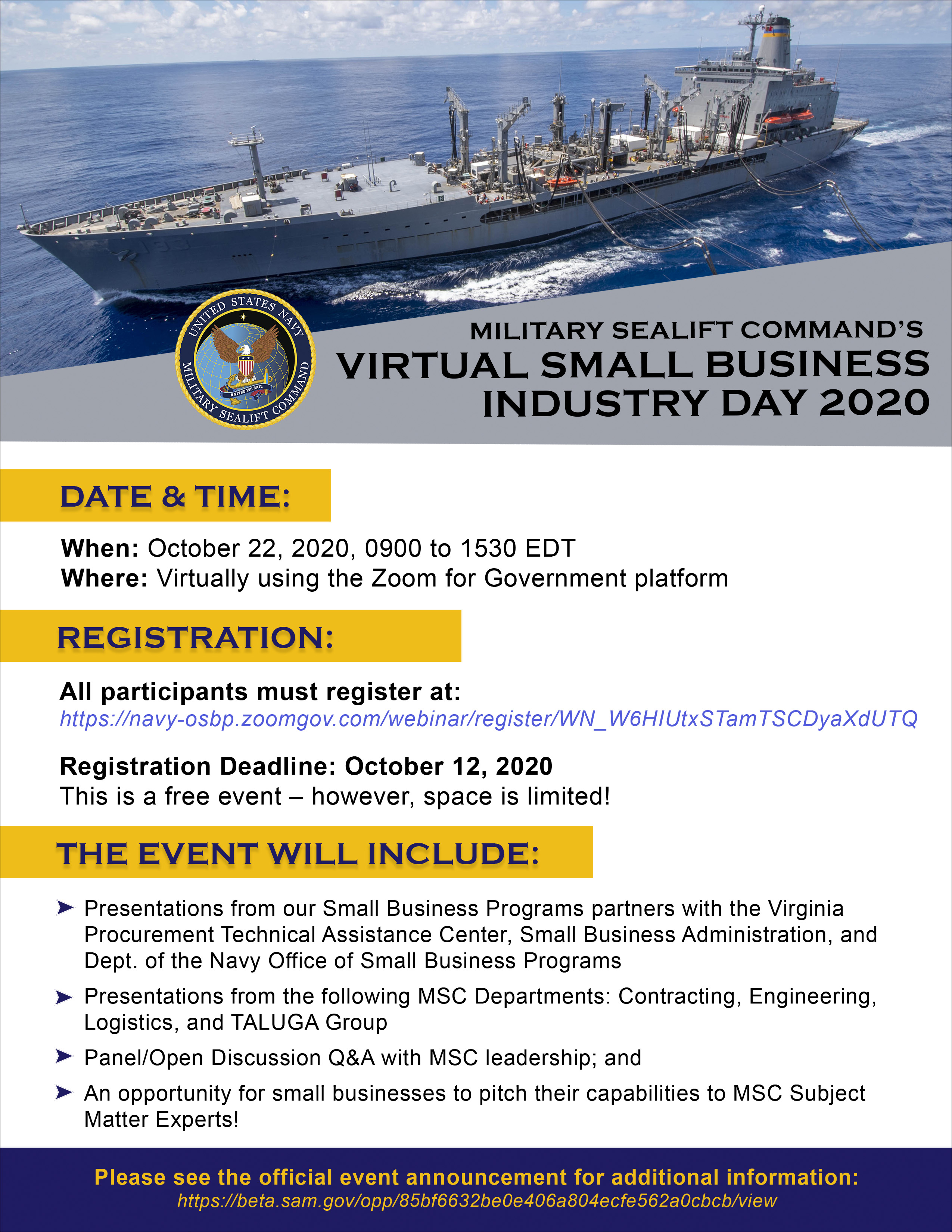 Virtual Small Business Industry Day 2020