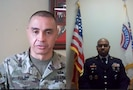 screen shot of 2 or more soldiers on a video chat.