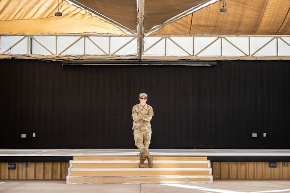 Tech. Sgt. Valerie Jacobs poses for a photo.