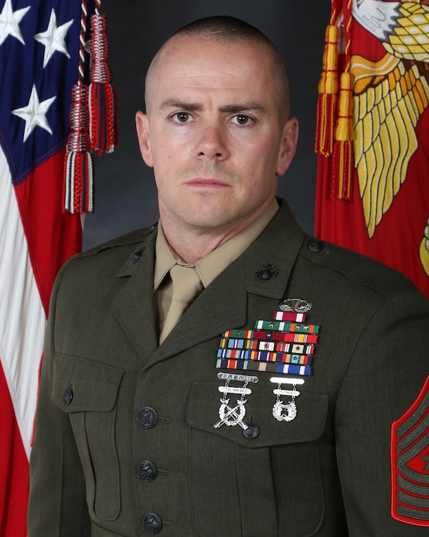 Sergeant Major Carl J. Jacobsen, 2nd Radio Battalion sergeant major