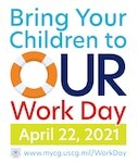 """On April 22, Coast Guard members all over the world invite you to virtually """"Bring Your Child to OUR Work Day"""""""