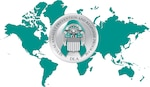 A graphic of the globe and SAPR seal