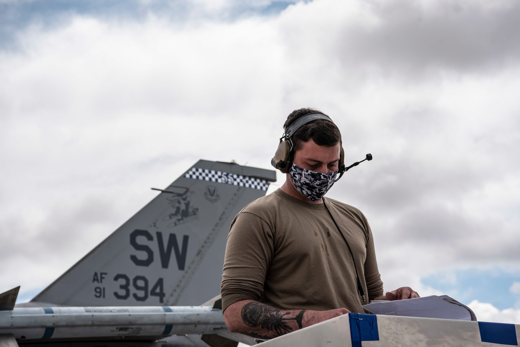 Photo of a maintainer at Red Flag 21-2 Nellis Air Force Base