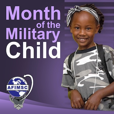 Month of the Military Child graphic