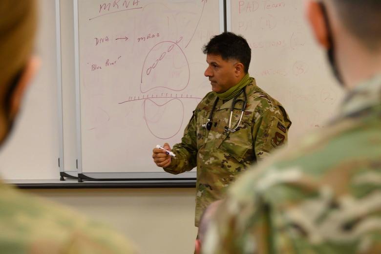 Photo of an Airman teaching a class