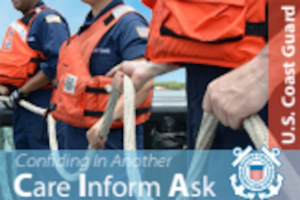 Allies committed to the Coast Guard's effort to eliminate harassment and assault have a new resource in their toolkit when responding to a shipmate in distress. The Confide in Another (CIA) card provides actionable next steps to prepare and respond in instances when a servicemember reaches out, looking for support.