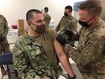Personnel receiving vaccine
