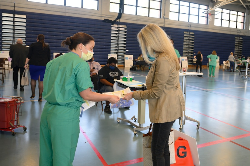 Mass Vaccination at Anderson Field House