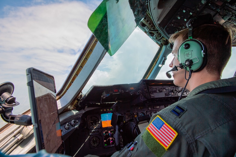 U.S. Air Force Captain Booth, a 76 Air Refueling Squadron pilot, flies a KC-10 Extender from Joint Base McGuire-Dix-Lakehurst, New Jersey, to Key West, Florida, during a training mission March 30, 2021. Reservists with the 514th Air Mobility Wing flies and maintains KC-10s and C-17 Globemaster IIIs.
