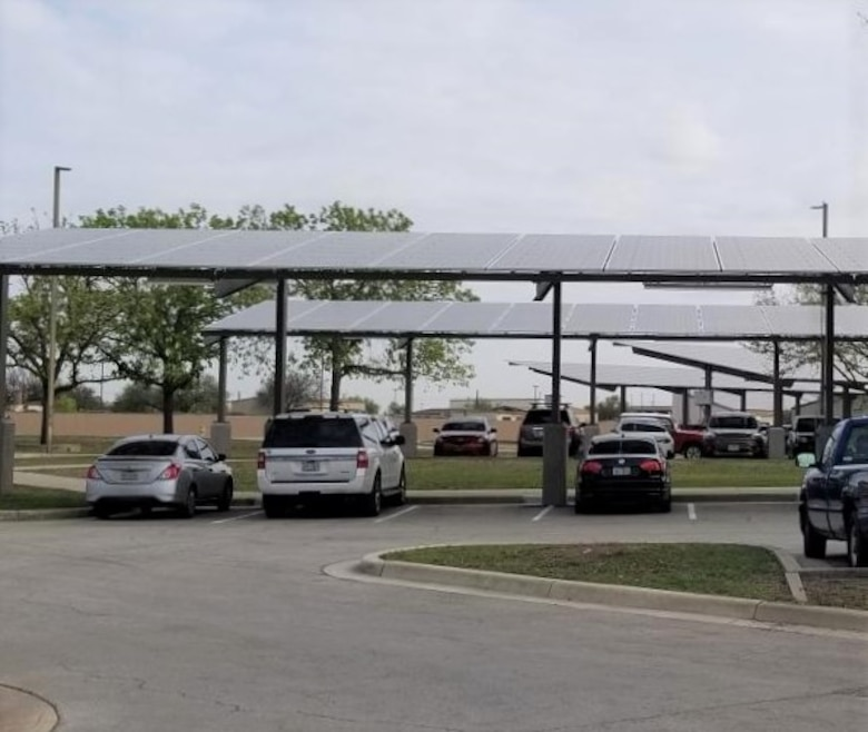 A Department of Energy, Energy Saving Performance Contract project at Joint Base San Antonio involves the installation of solar energy systems on 55 buildings, and over several parking areas, at a cost of about $46 million. Systems will be installed on JBSA-Lackland, -Kelly Annex, -Chapman Training Annex, and -Fort Sam Houston