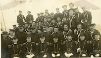 The officers and crew of the U.S. Revenue Cutter Rush, 1 November 1908.