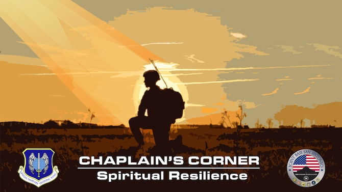 Special Warfare Training Wing Chaplain's Corner graphic.