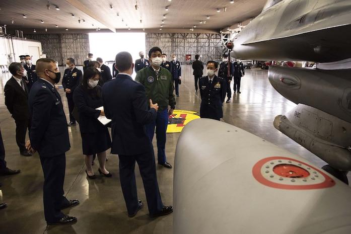 Japan Minister of Defense Visits Misawa Air Base