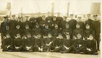 Officers of the Bering Sea Patrol fleet, 27 September 1908.