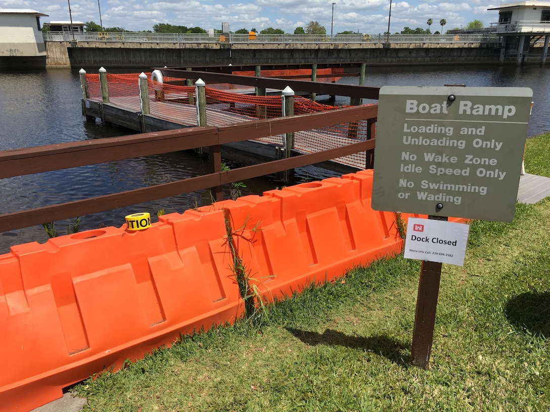 The courtesy dock at W.P. Franklin South Recreation Area is closed for repairs until further notice