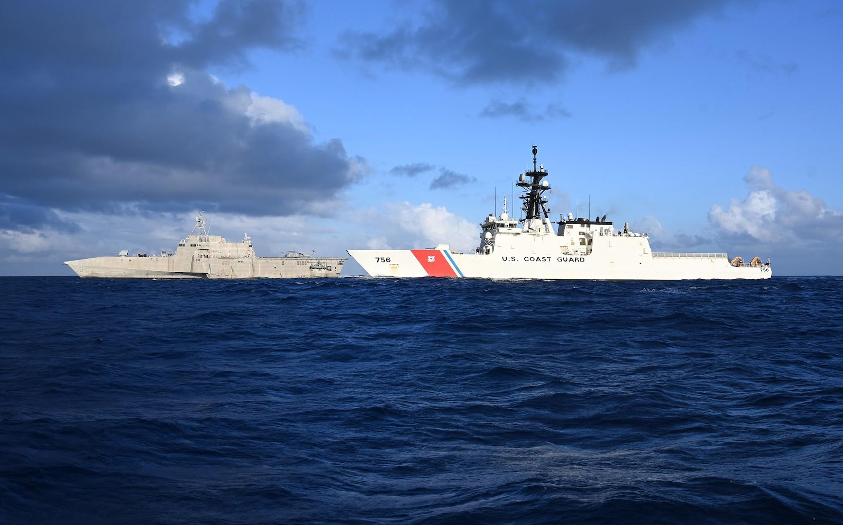 USS Tulsa, USCGC Kimball conduct joint training