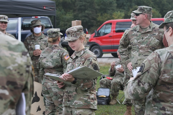 Soldiers from the 338th Army Band Receive Safety Briefing Before Unit Weapon Qualification
