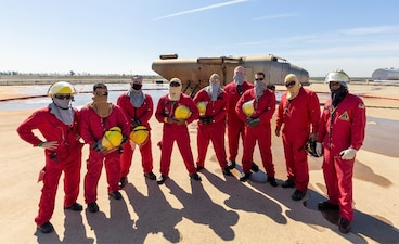 LEMOORE, Calif. (April 7, 2021) Marines from Marine Corps Air Station New River learned important firefighting skills during training at Center for Naval Aviation Technical Training Unit Lemoore in March. (U.S. Navy photo)