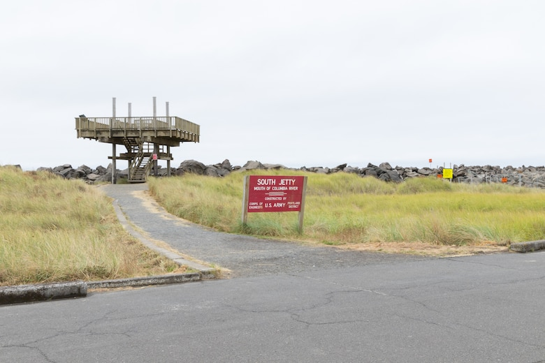 """South Jetty rehabilitation will temporarily close the observation tower at Lot """"C"""" at Fort Stevens State Park beginning April 19. Lot """"C"""" and the bathrooms remain open for public access but the tower will be closed until further notice. Construction progress will determine the reopening date and a separate announcement will follow."""