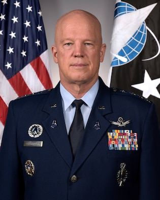 "This is the official portrait of Gen. John W. ""Jay"" Raymond."