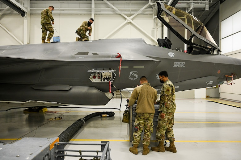 A photo of F-35 maintenance