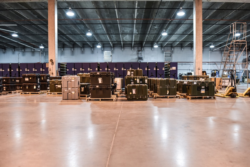 Anesthesia Machines stored in inside of the 99th Army Support Activity Medical Equipment Concentration Site warehouse at Joint Base McGuire-Dix-Lakehurst, New Jersey, April 7, 2021. 