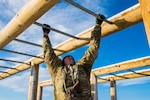 A Colorado National Guard Soldier traverses an obstacle during the 2019 Best Warrior Competition April 14, 2019, at Fort Carson, Colorado. The Colorado Army National Guard winner advanced to the Region 7 Best Warrior Competition. (U.S. Army National Guard photo by Spc. John Peterson)