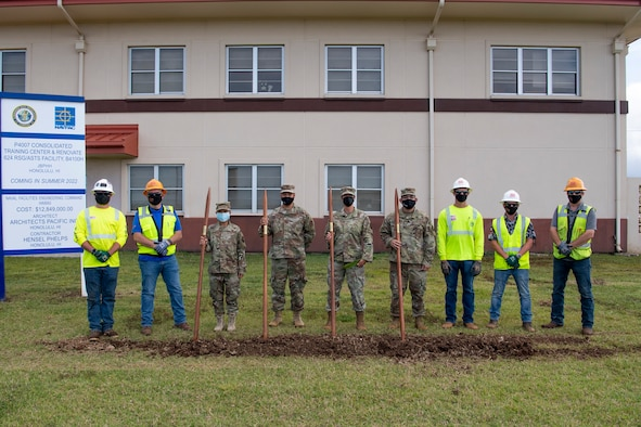 The 624th Regional Support Group (RSG) broke ground for the construction of their highly anticipated headquarters building that will be co-located with the Aeromedical Staging Squadron (ASTS) at Joint Base Pearl Harbor-Hickam, on March 31, 2021. Currently, the group headquarters utilizes shared space with multiple units and different service branches.