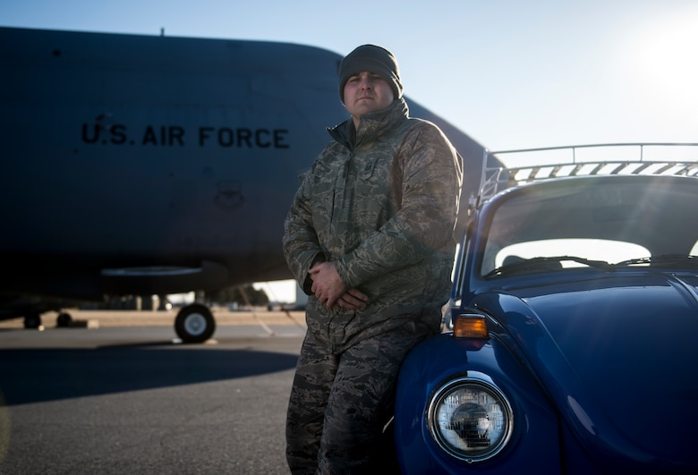 Dover maintainer splits passion between restoring classic Beetles and aircraft.