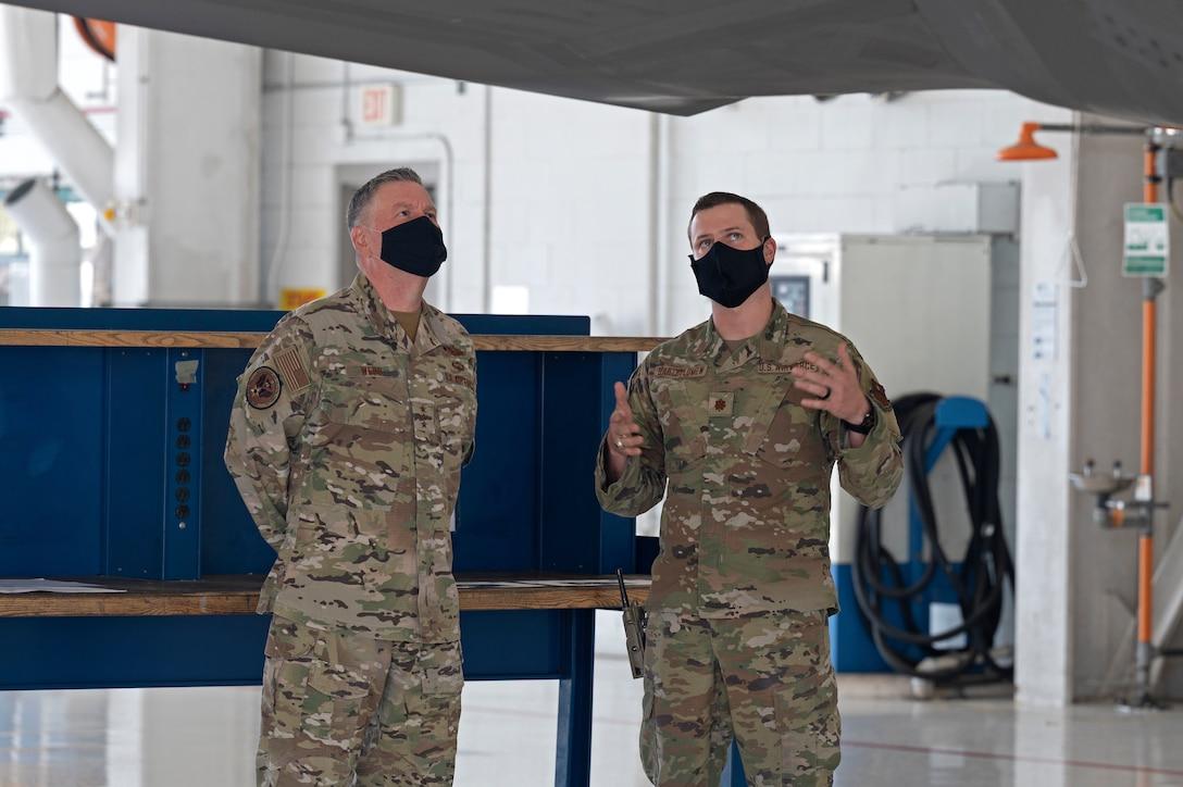Lt. Gen. Webb visited the 33rd Fighter Wing April 7, 2020/