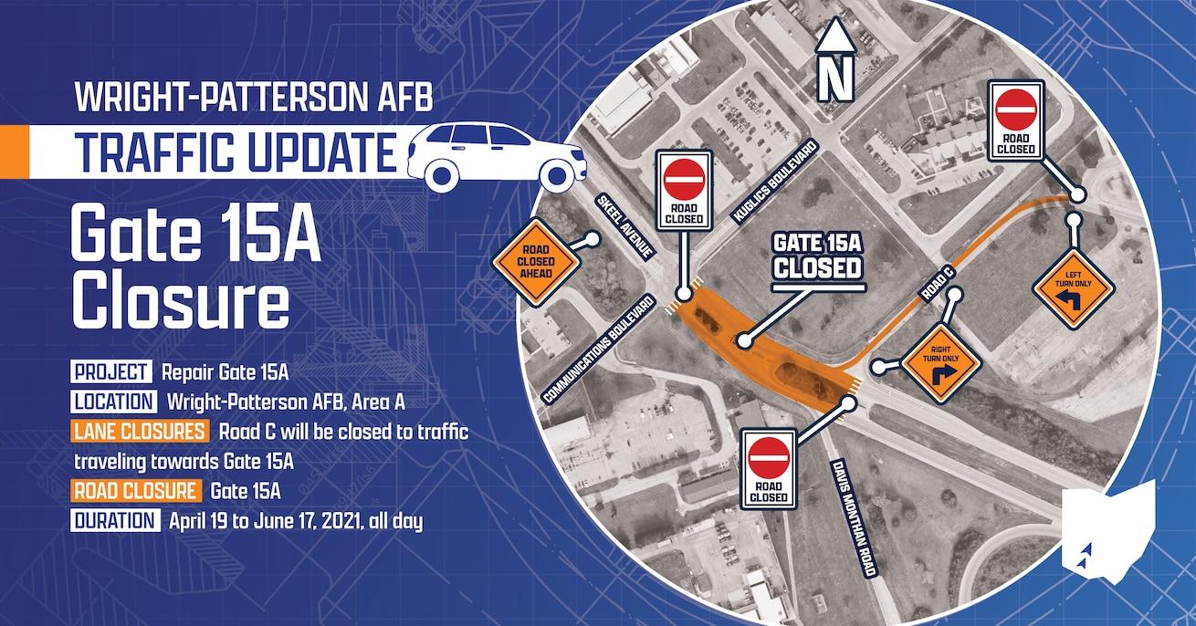 Gate 15A Closure graphic
