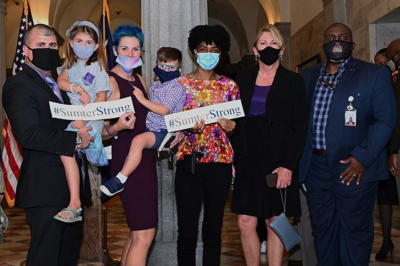Image of Team Shaw families at the South Carolina State House
