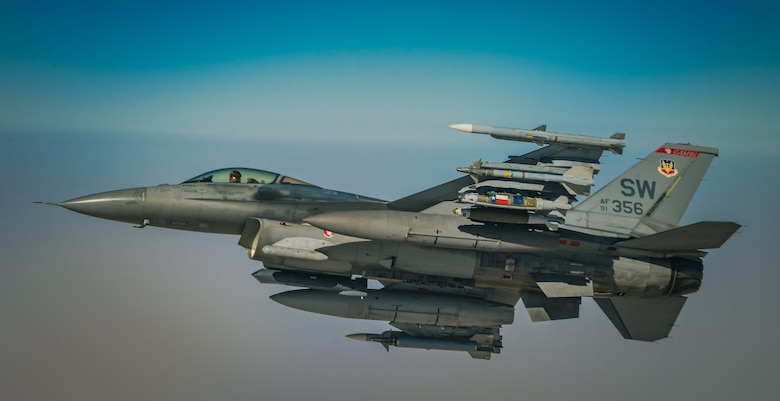 340th EARS provides fuel to F-16s