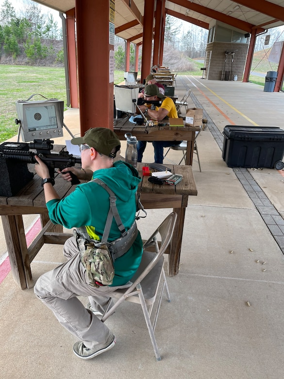 """Staff Sgt. Belot, (3-335th TSBn """"Blackhawk"""", 85th Reserve Support Command) zeroing at the Civilian Marksmanship Program's Talladega range. Using local shooting events, ranges,  and Postal Matches are an ideal way to build unit-level training programs to improve readiness and retention."""