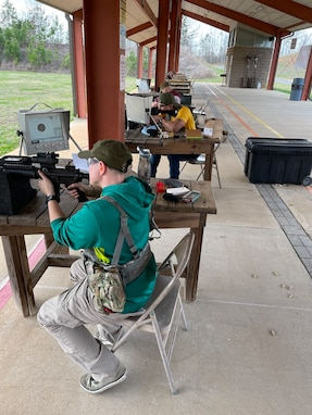 "Staff Sgt. Belot, (3-335th TSBn ""Blackhawk"", 85th Reserve Support Command) zeroing at the Civilian Marksmanship Program's Talladega range. Using local shooting events, ranges,  and Postal Matches are an ideal way to build unit-level training programs to improve readiness and retention."