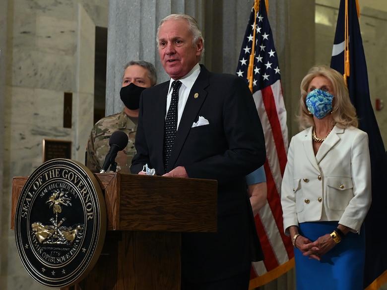 Image of South Carolina Governor giving a speech