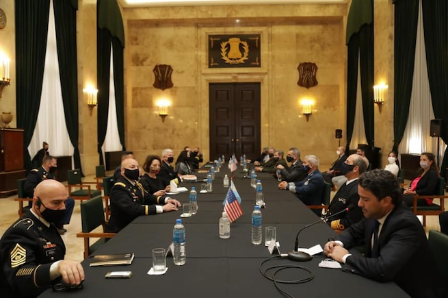 U.S. Southern Command's commander, Navy Adm. Craig Faller, meets with Argentine Minister of Defense Agustin Rossi, Chief of Defense Gen. Juan Martin Paleo and other top defense leaders to discuss security cooperation.
