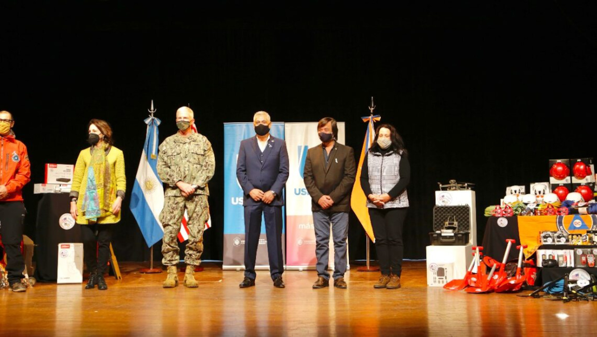 U.S. Southern Command's commander, Navy Adm. Craig Faller took part as the U.S. donated search and rescue equipment to Argentina to bolster the nation's civil defense capabilities.