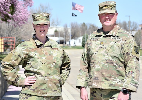 """Maj. Christopher Lavelle and his younger sister, Master Sgt. Kerry Lavelle, are known on Gowen Field as """"the Lavelles."""" They have served on base as full-time technicians for several years and as traditional Guardsmen in the Idaho National Guard for nearly 20 years."""