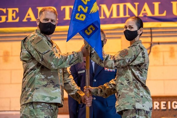 Lt. Col. Anjanette K. Lowe is the new 48th Aerial Port Squadron commander. Lowe took command of the 48th APS during an assumption of command ceremony held at Joint Base Pearl Harbor-Hickam, Hawaii, April 10, 2021.
