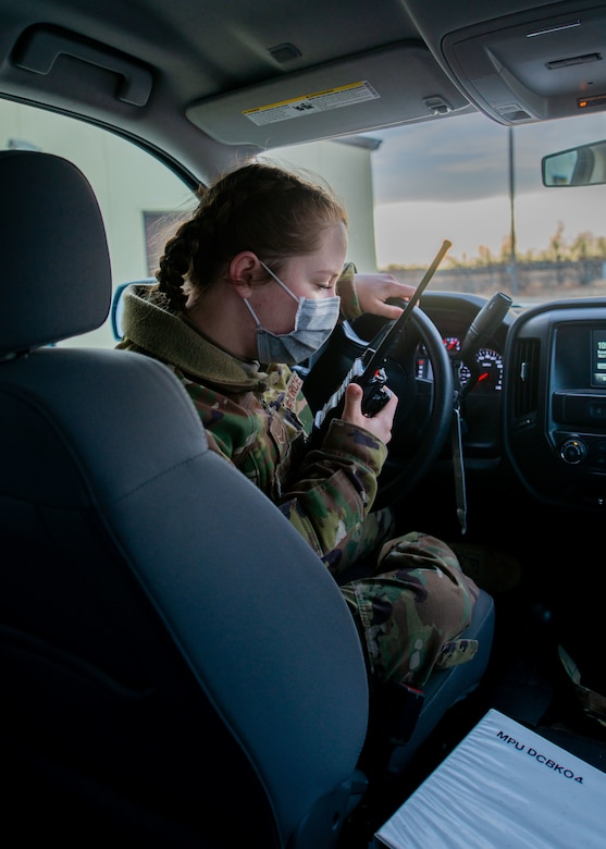 The Grantham sisters at work in Minot Air Force Base, North Dakota April 12, 2021.