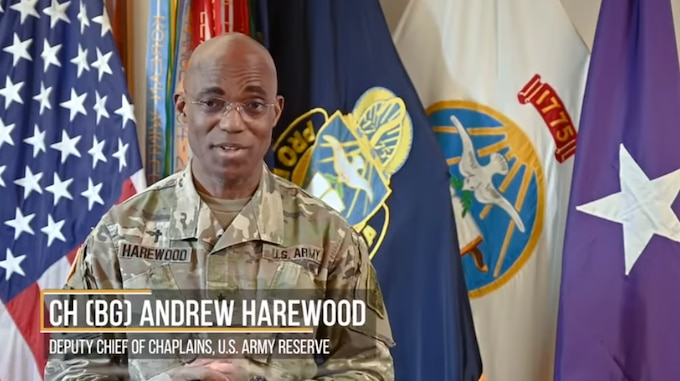 Army Reserve Chaplain (BG) Andrew Harewood has some words of encouragement for you!