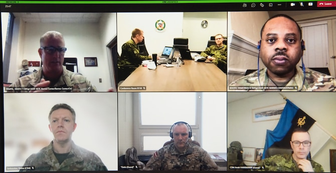 The Chiefs Leadership Academy, part of Air University's Barnes Center for Enlisted Education at Maxwell Air Force Base, Ala., participated in a three-day virtual planning workshop with the Baltic Defence College in Tartu, Estonia, April 6-8, 2021.