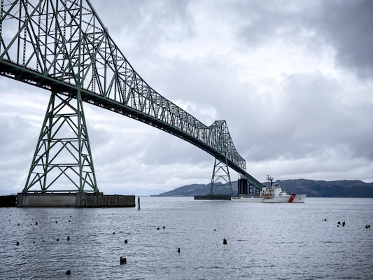The USCGC Alert (WMEC 127) and its crew return to homeport in Astoria, Oregon, Wednesday, April 7, 2021, following a 63-day patrol that began in early February. The cutter and crew patrolled off the coast of Mexico and in the vicinity of the United States-Mexico Maritime Boundary Line enforcing international laws and treaties to disrupt illegal narcotics and migrant smuggling. U.S. Coast Guard photo by Petty Officer 1st Class Cynthia Oldham.