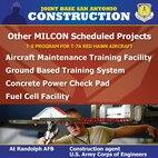 Info graphic detailing military construction efforts at JBSA-Randolph.
