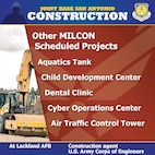 Info graphic on military construction efforts at JBSA-Lackland.