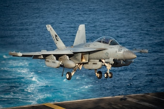 USS Dwight D. Eisenhower (CVN 69) conducts flight operations in the Arabian Sea.