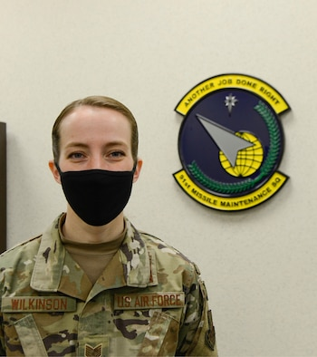 Tech. Sgt. Kayla Wilkinson of the 91st Missile Maintenance Squadron is the first woman since 1992 to hold the position of Missile Maintenance Team Chief.